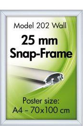 Snap-kehys eloksoitu alumiini - A4 ja A3