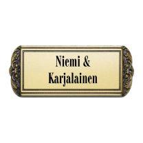 Ovikyltti Classic brass - 7 x 17,5 cm