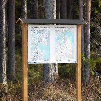 Karttateline puusta A0 - Karttakoko 594 x 1189 mm