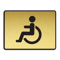 WC-skylt - handikapptoalett guld