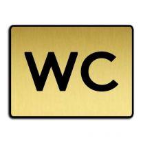 WC-skylt - Guld